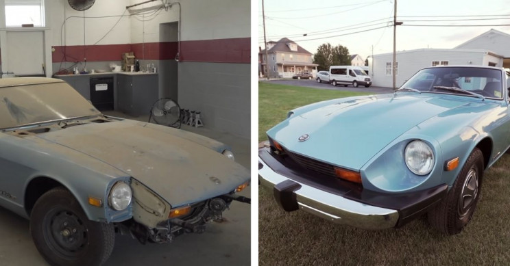 Datsun 280Z Forgotten in Barn Gets Its First Wash in Over 44 Years
