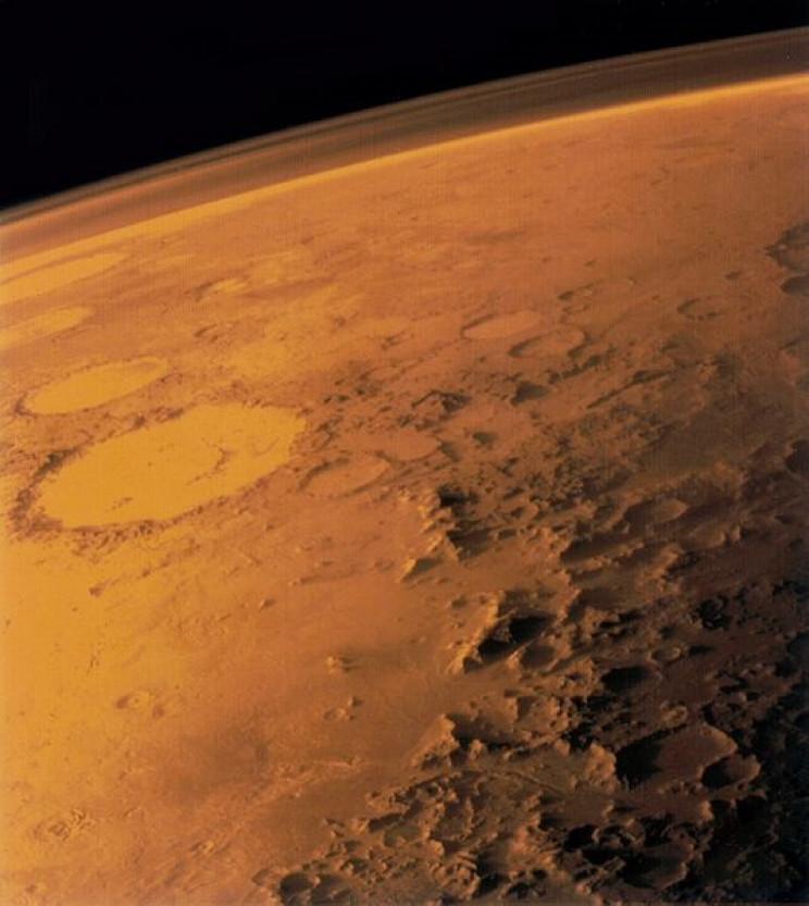 Mars' thin atmosphere