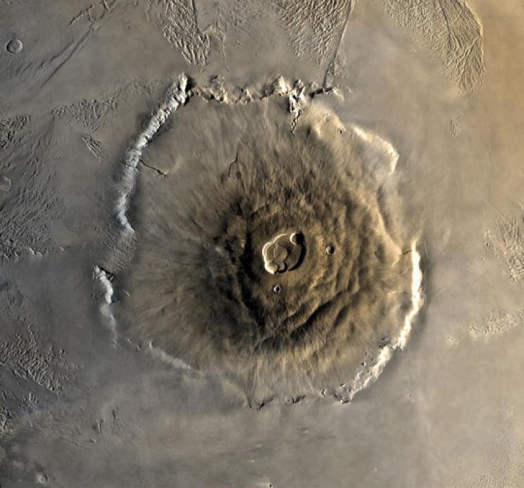 Viking 1 image of Olympus Mons