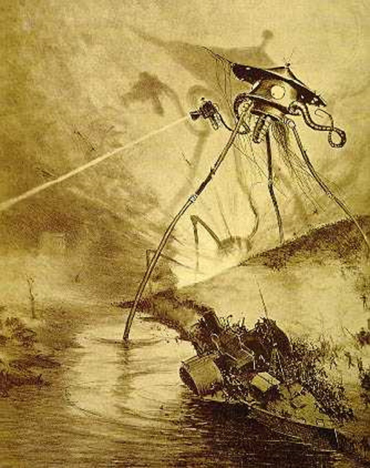 1906 French illustration of War of the Worlds