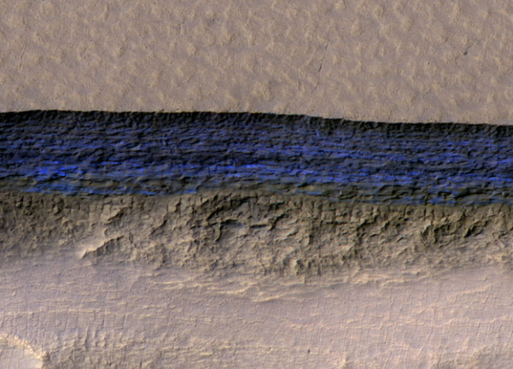 Subsurface water flowing on Mars