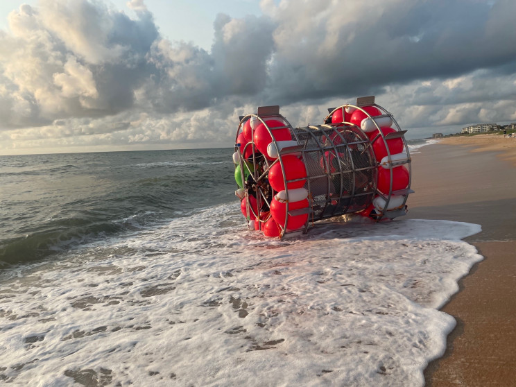 Florida Man Trying to Run to New York on Sea in a Hamster Wheel Washed Ashore