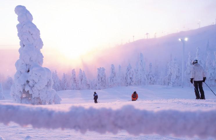 ski resort in lapland, Finland