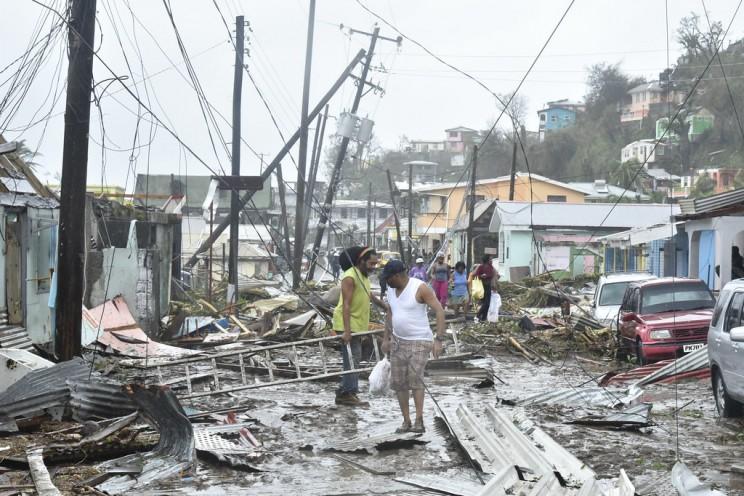 Damage Due to Hurricane Maria