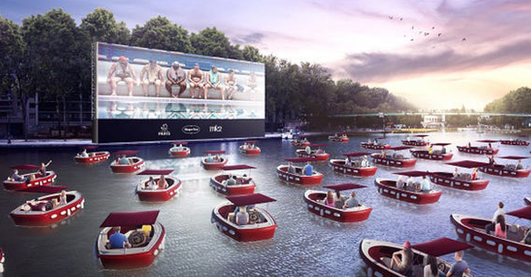 Floating Movie Theater With Socially Distant Boats Set for Paris