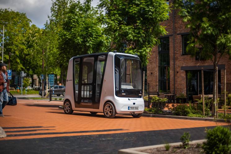 autonomous electric shuttle developed by Auve Tech and Tallinn University of Technology