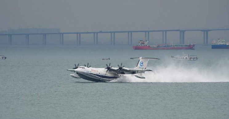 World's Largest Seaplane Makes Its Maiden Flight in China