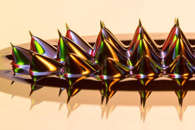magnetic fluid closeup