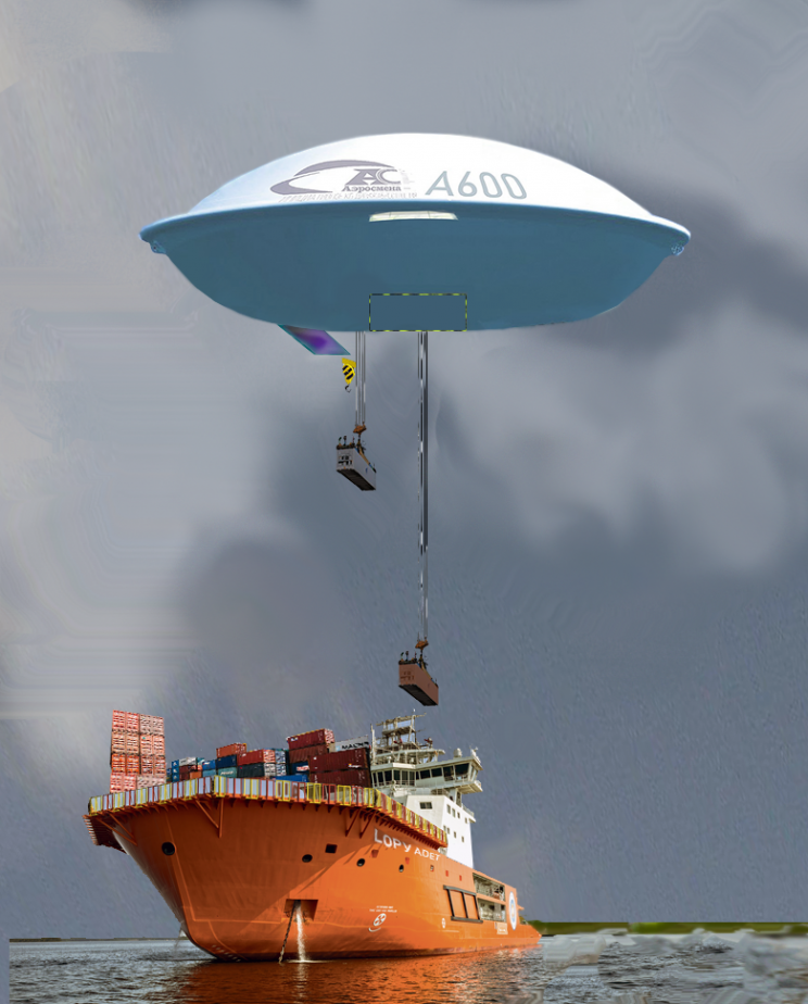 Is that a UFO? No, It's a 600 Ton-Capacity Russian Cargo Airship