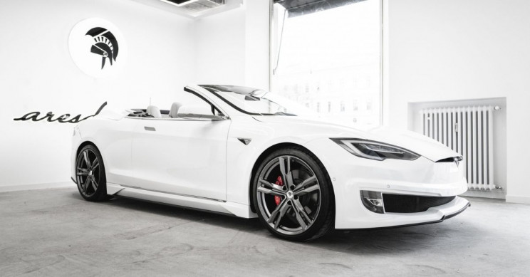 Ares Design Has 'Dropped the Top' on Tesla Model S, Two-Door Convertible