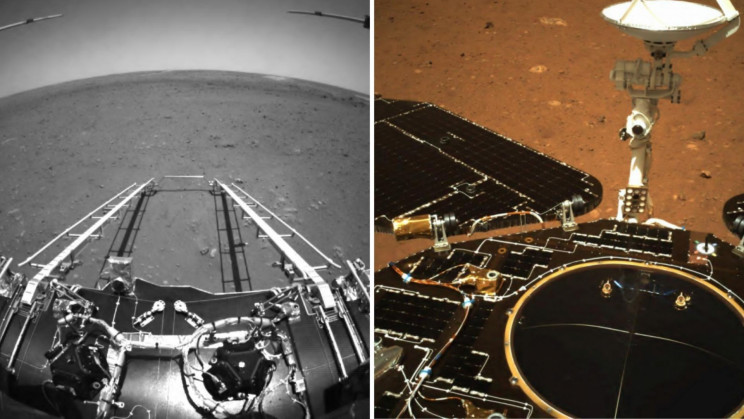 China's Zhurong Rover Beams Back Its First Mars Images
