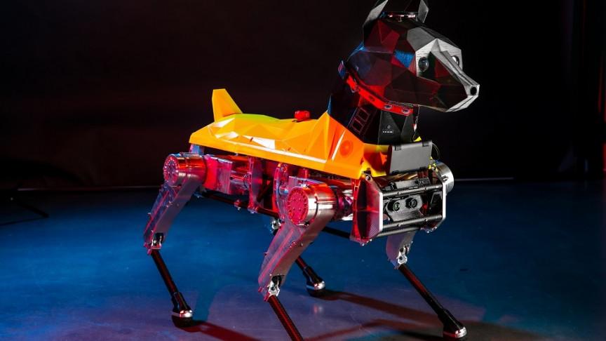 Scientists Create First Quadruped Robot With 3D Printed Doberman Pinscher Head