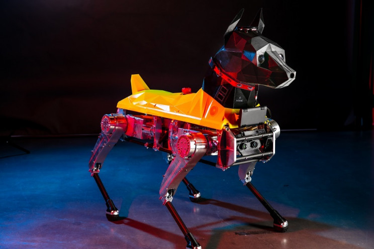 Scientists Create First Quadruped Robot With 3D Printed Doberman Pinscher Head