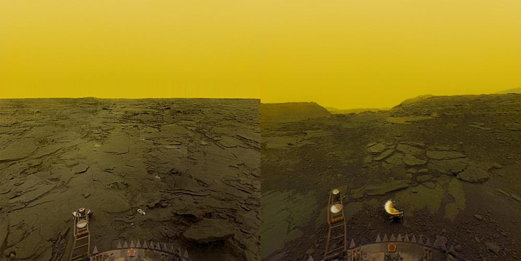 Surface of Venus shown by Venera 13