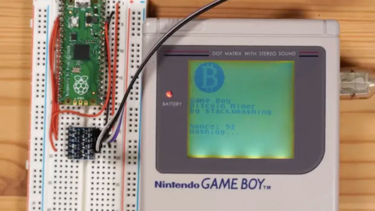 YouTuber Converted Their Old Game Boy to Mine Bitcoin