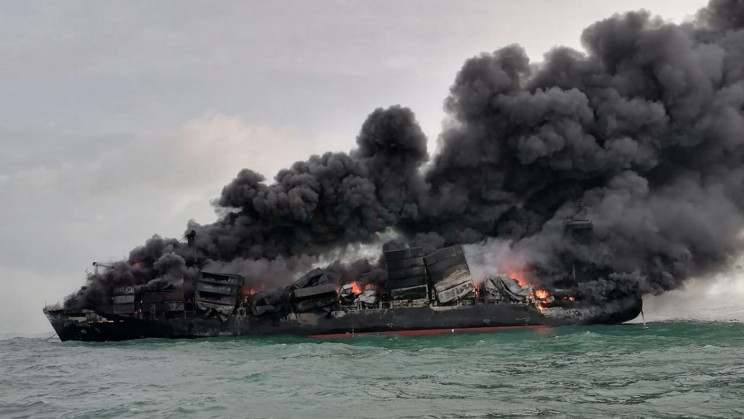 Container Ship Transporting Chemicals Has Been Ablaze for 7 Days off Sri Lanka