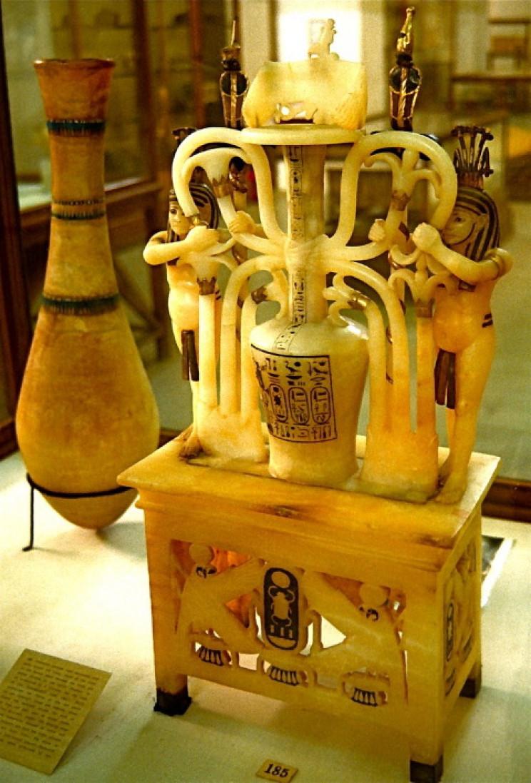 Calcite perfume jars from Tutankhamun's tomb, 1323 BC