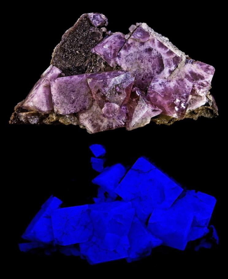 Fluorite fluorescing