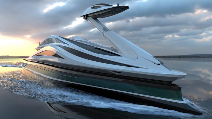 Un yacht électrique de luxe en forme de cygne semble tout droit sorti d'un conte de fées