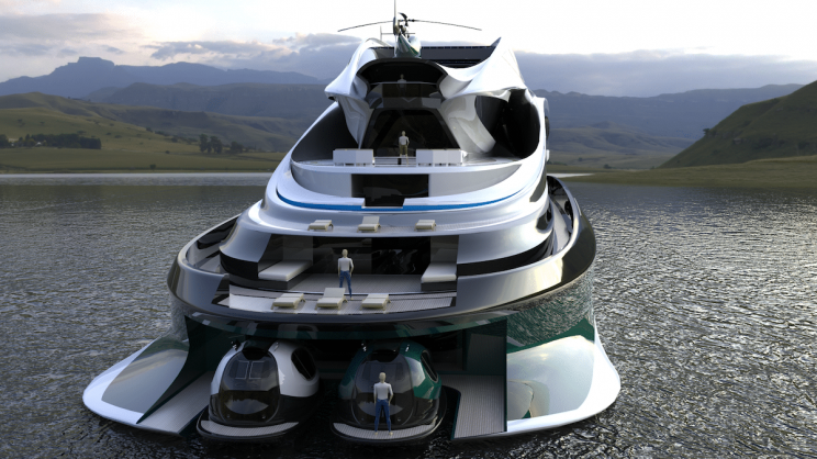 Swan-Shaped Luxury Electric Yacht Looks Straight out of a Fairy Tale