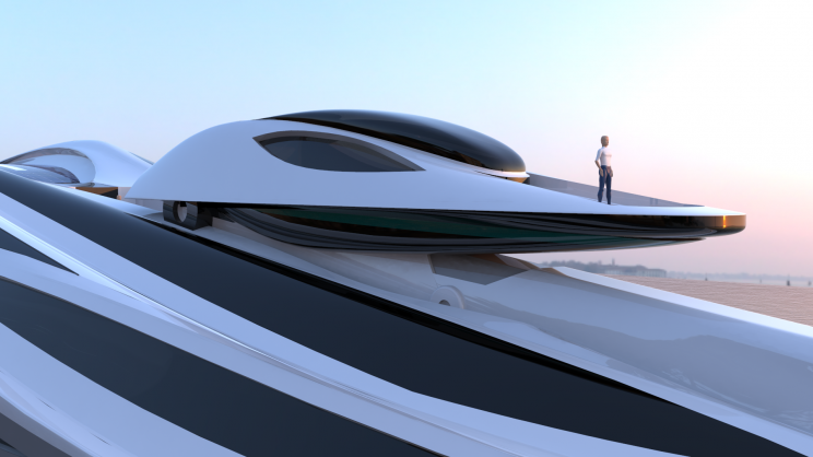 Un yacht électrique de luxe en forme de cygne semble tout droit sorti d'un conte de fées |Avanguardia Lazzarini