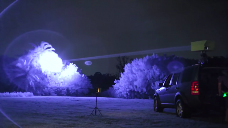 Guy Mounts Highly Dangerous 200-Watt Laser to the Roof of His Car