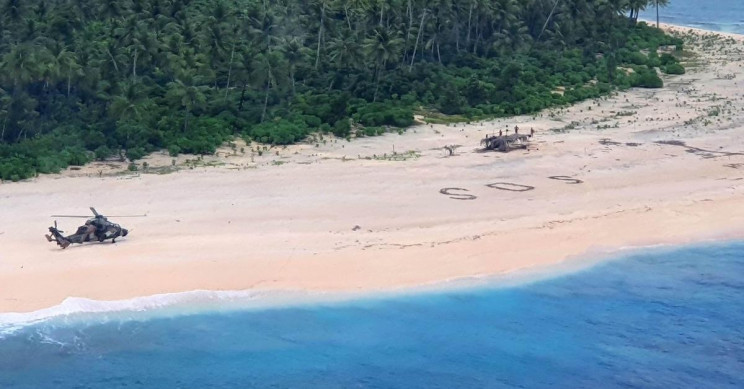 SOS Signal Saves Stranded Mariners From Uninhabited Island