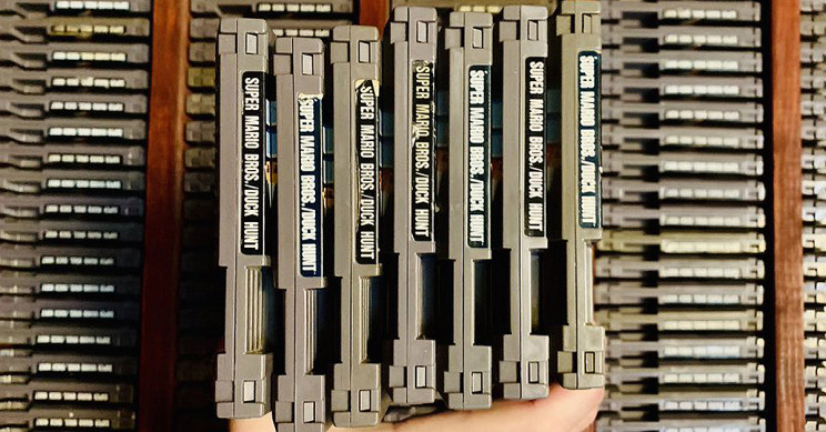 Collector on a Hunt to Find 380 Copies of Super Mario Bros and Duck Hunt