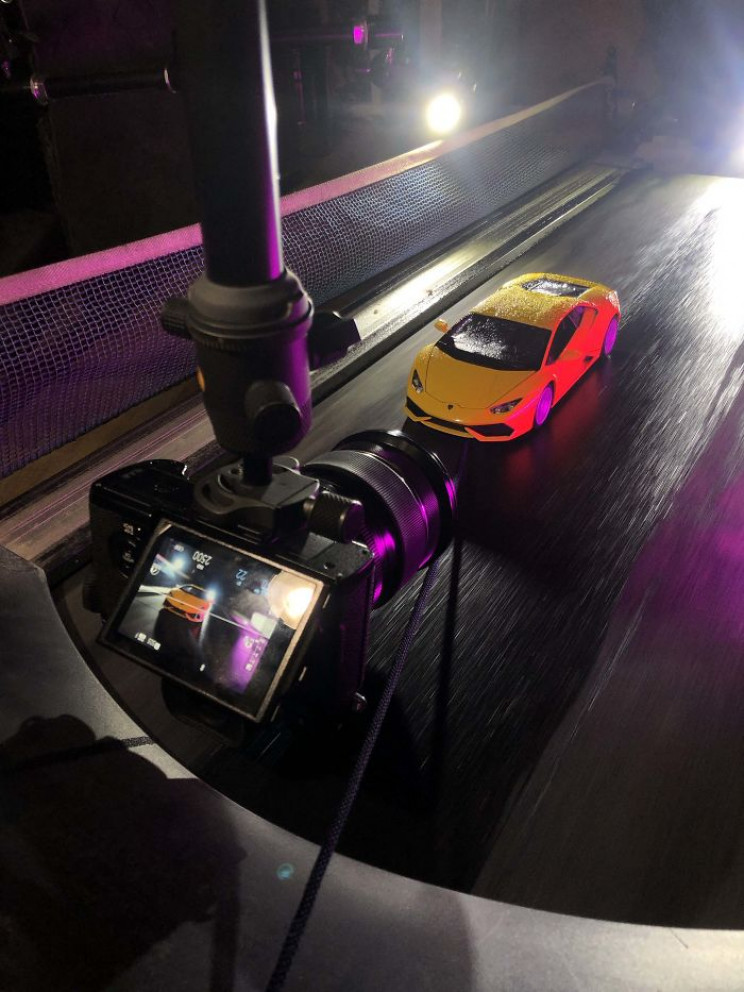 Car Photographer Does a Realistic Photoshoot With a Toy Car out of Boredom
