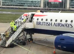 Paralympian Climate Protestor Glues Himself to the Top of a British Airways Plane