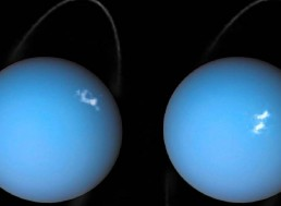 Uranus' almost invisible rings have a surprising glow in heat images