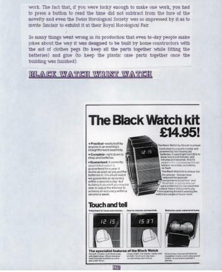 Sinclair black watch, Enrico Tedeschi collection