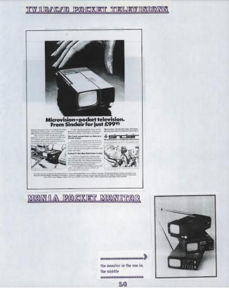 Sinclair pocket television, Enrico Tedeschi collection, Sinclair archeology