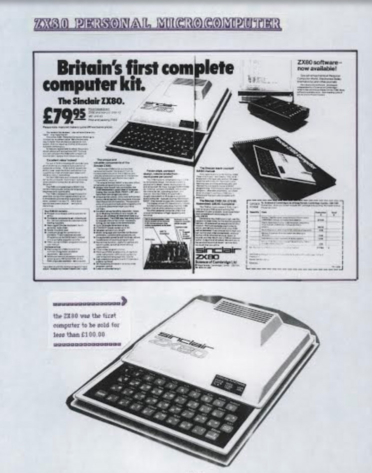 Sinclair ZX80 personal microcomputer, Enrico Tedeschi collection, Sinclair archeology, history of vintage Electronics