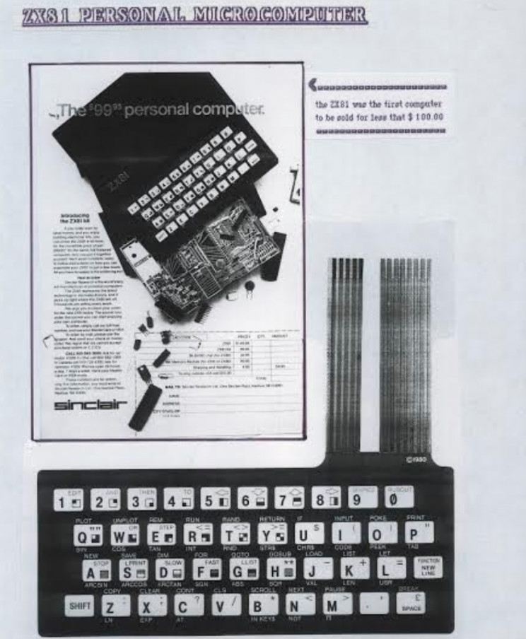 Sinclair ZX81 personal microcomputer, Enrico Tedeschi collection, Sinclair archeology, history of vintage electronics