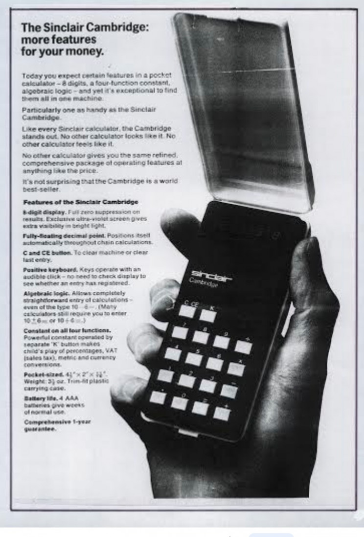 Enrico Tedeschi collection, Sinclair Cambridge calculator