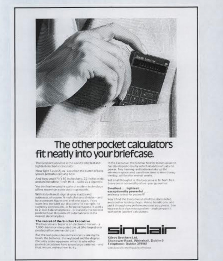 Enrico Tedeschi collection, Sinclair pocket calculator