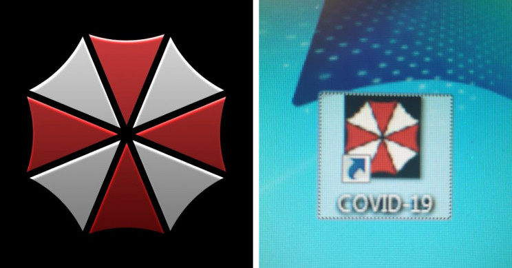 Hospital Is Using Umbrella Corporation's Logo from Resident Evil for Their COVID-19 Updates Folder
