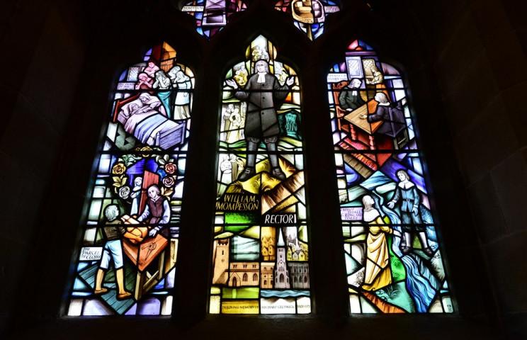 Plague Window St. Lawrence's Church Eyam