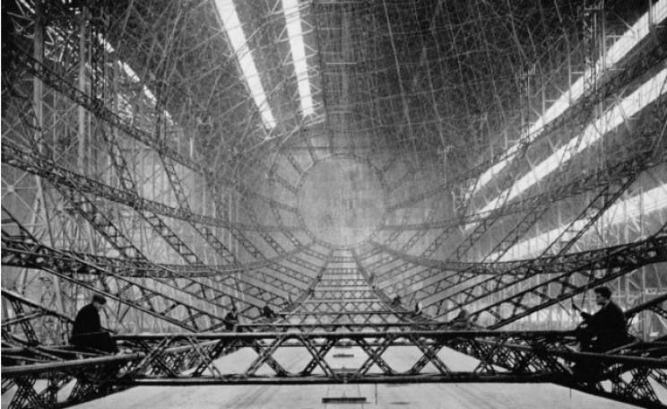 empty inside large vehicles airship
