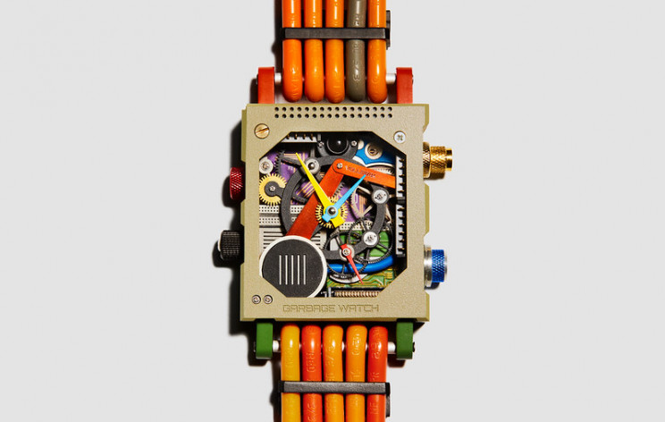 Upcycled Watch Made of Electronic Waste Like Microchips, Motherboards
