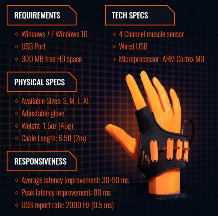 Brink Bionics Tech Specs
