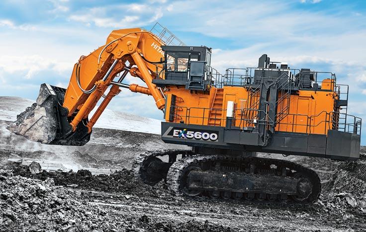 biggest excavators ex5600