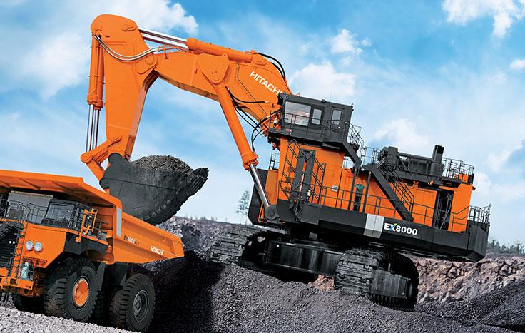 biggest excavators ex8000