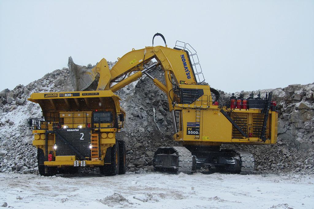 biggest excavators PC5500