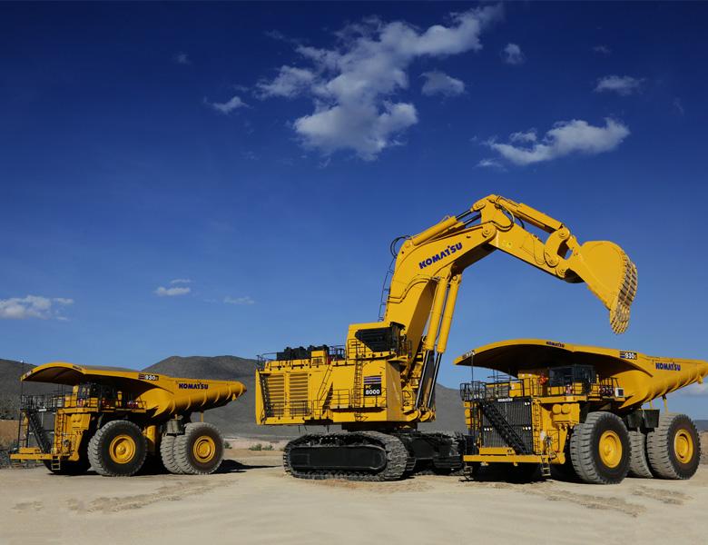 biggest excavators pc8000