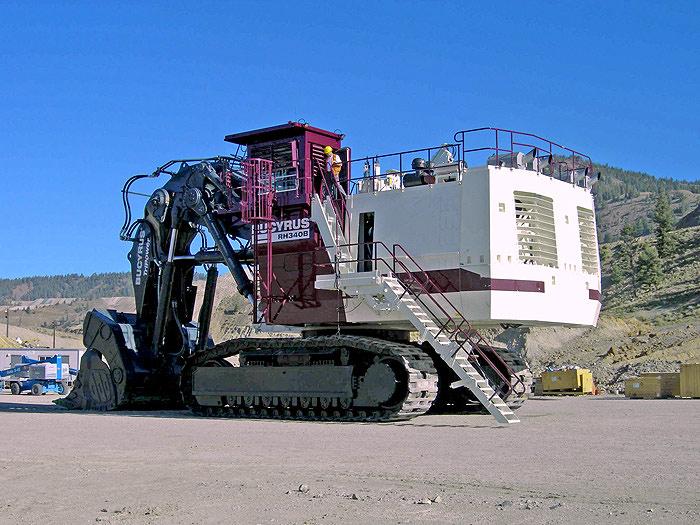 biggest excavators RH 340