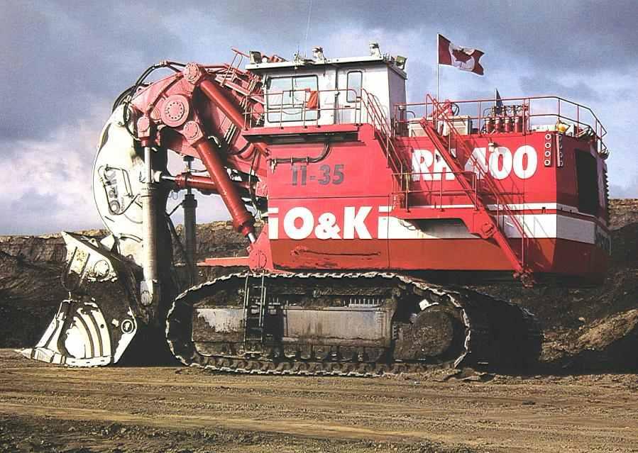 biggest excavator rh400