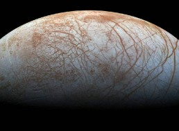 The Frozen Oceans of Europa Hold as Much Table Salt as Earth's