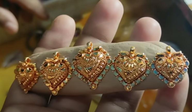 diy gold necklace dremel polish